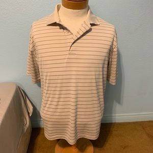Top Flite tan collared polo shirt Large